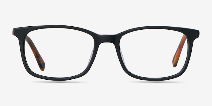 Botanist Black Acetate Eyeglass Frames from EyeBuyDirect, Front View