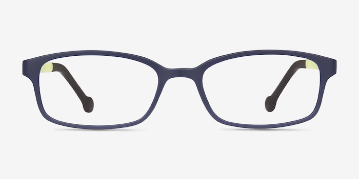 Gizmo Navy Plastic Eyeglass Frames from EyeBuyDirect, Front View