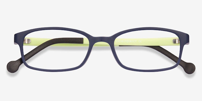 Gizmo Navy Plastic Eyeglass Frames from EyeBuyDirect, Closed View