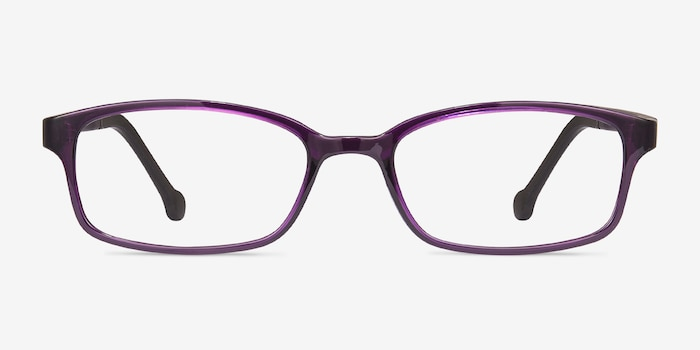Gizmo Purple Plastic Eyeglass Frames from EyeBuyDirect, Front View
