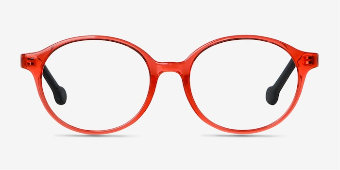 Daylight Clear Orange Plastic Eyeglass Frames from EyeBuyDirect, Front View