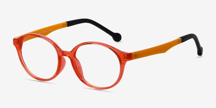 Daylight Clear Orange Plastic Eyeglass Frames from EyeBuyDirect, Angle View