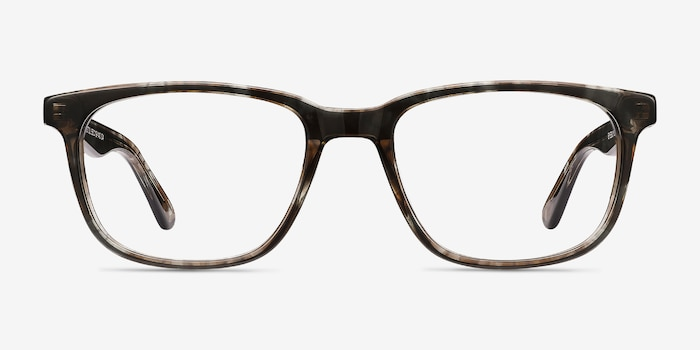 Bristol Gray Floral Acetate Eyeglass Frames from EyeBuyDirect, Front View