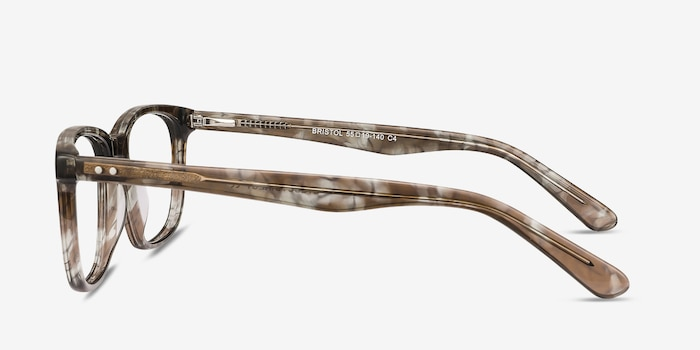 Bristol Gray Floral Acetate Eyeglass Frames from EyeBuyDirect, Side View
