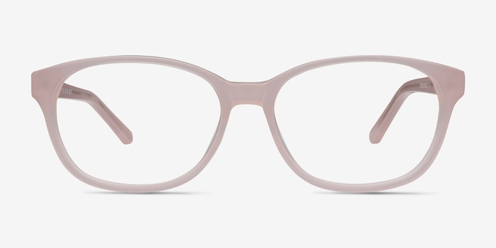 Lyle Pink Acetate Eyeglass Frames from EyeBuyDirect, Front View