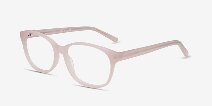 Lyle Pink Acetate Eyeglass Frames from EyeBuyDirect, Angle View