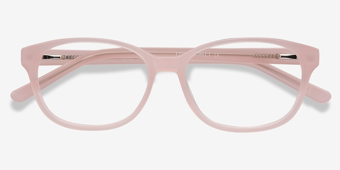 Lyle Pink Acetate Eyeglass Frames from EyeBuyDirect, Closed View
