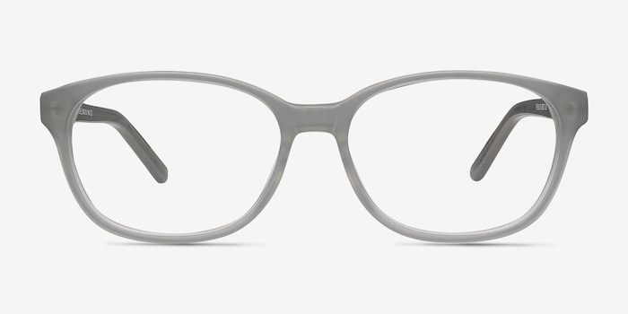 Lyle Gray Acetate Eyeglass Frames from EyeBuyDirect, Front View