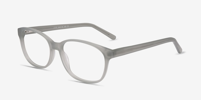 Lyle Gray Acetate Eyeglass Frames from EyeBuyDirect, Angle View