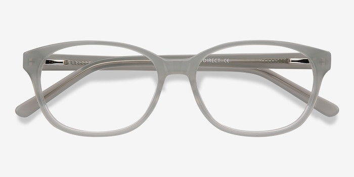 Lyle Gray Acetate Eyeglass Frames from EyeBuyDirect, Closed View