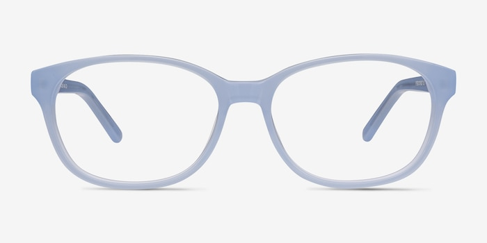 Lyle Blue Acetate Eyeglass Frames from EyeBuyDirect, Front View