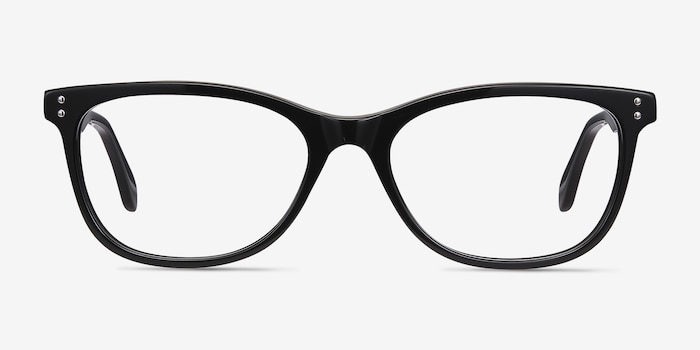Prodigy Black Acetate Eyeglass Frames from EyeBuyDirect, Front View