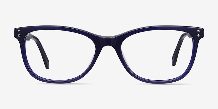 Prodigy Blue Acetate Eyeglass Frames from EyeBuyDirect, Front View