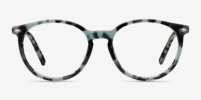 Blink Green Tortoise Acetate Eyeglass Frames from EyeBuyDirect, Front View