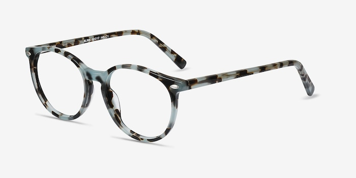 Blink Green Tortoise Acetate Eyeglass Frames from EyeBuyDirect, Angle View