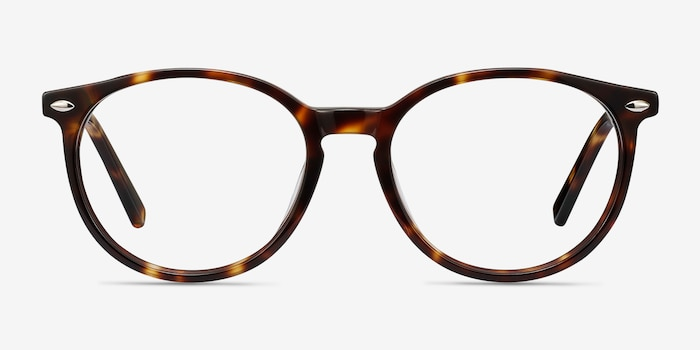 Blink Tortoise Acetate Eyeglass Frames from EyeBuyDirect, Front View