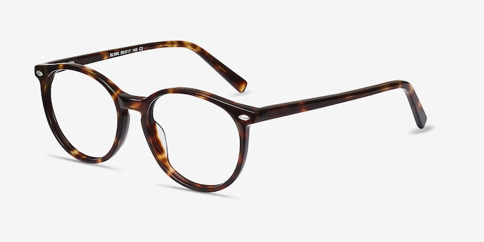 Blink Tortoise Acetate Eyeglass Frames from EyeBuyDirect, Angle View
