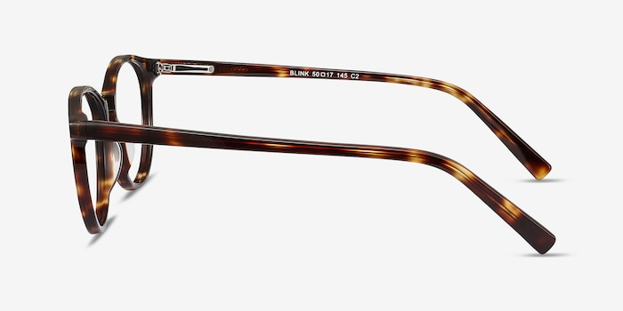 Blink Tortoise Acetate Eyeglass Frames from EyeBuyDirect, Side View