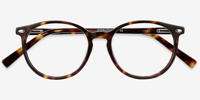 Blink Tortoise Acetate Eyeglass Frames from EyeBuyDirect, Closed View