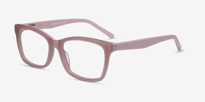 Mode Matte Pink Acetate Eyeglass Frames from EyeBuyDirect, Angle View