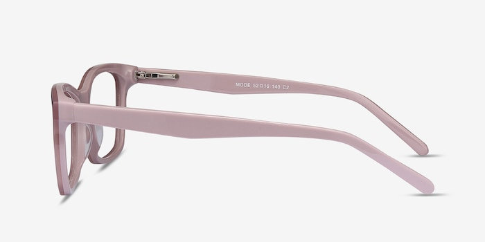 Mode Matte Pink Acetate Eyeglass Frames from EyeBuyDirect, Side View