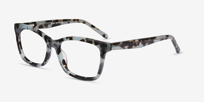 Mode Green Tortoise Acetate Eyeglass Frames from EyeBuyDirect, Angle View