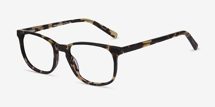 Emblem Tortoise Acetate Eyeglass Frames from EyeBuyDirect, Angle View