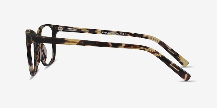 Emblem Tortoise Acetate Eyeglass Frames from EyeBuyDirect, Side View