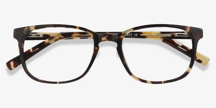 Emblem Tortoise Acetate Eyeglass Frames from EyeBuyDirect, Closed View
