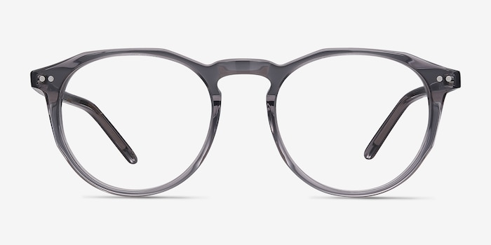 Planete Gray Clear  Acetate Eyeglass Frames from EyeBuyDirect, Front View