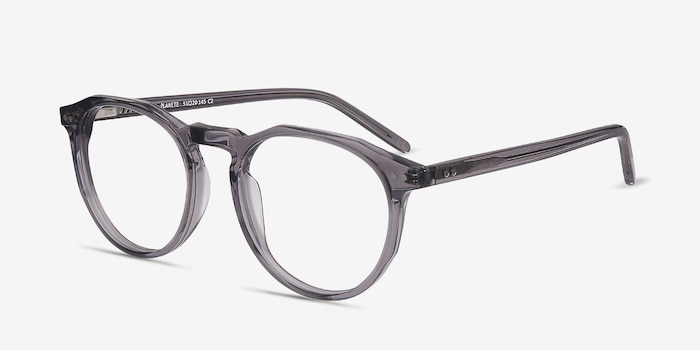 Planete Gray Clear  Acetate Eyeglass Frames from EyeBuyDirect, Angle View