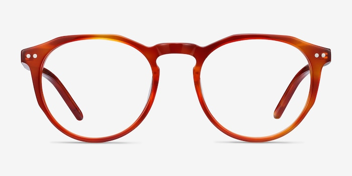 Planete Brown Tortoise Acetate Eyeglass Frames from EyeBuyDirect, Front View