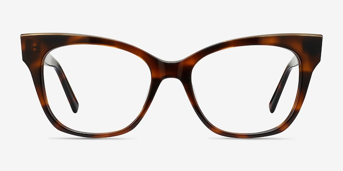 Cachet Tortoise Acetate Eyeglass Frames from EyeBuyDirect, Front View