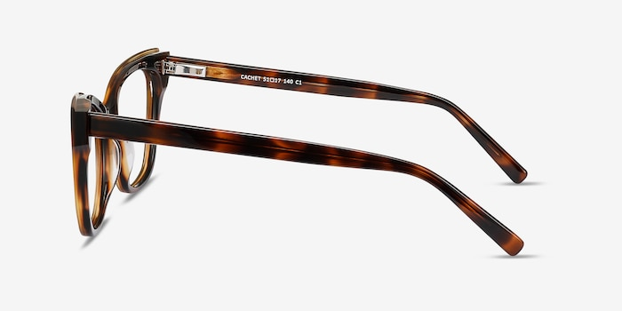 Cachet Tortoise Acetate Eyeglass Frames from EyeBuyDirect, Side View