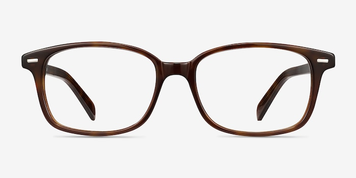 Sway Brown Tortoise Acetate Eyeglass Frames from EyeBuyDirect, Front View