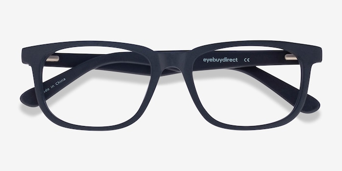 Little Bristol Black Acetate Eyeglass Frames from EyeBuyDirect, Closed View