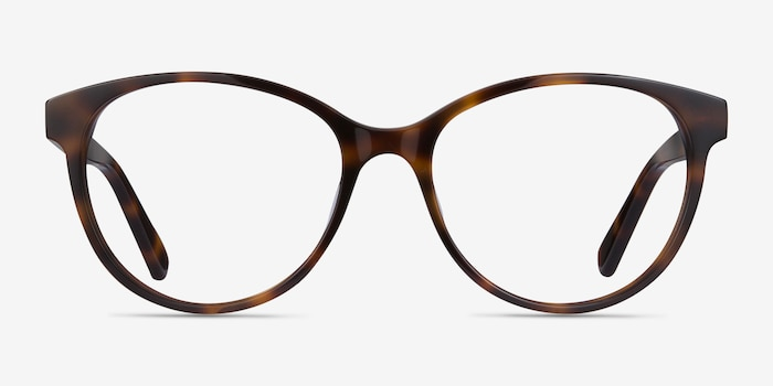 Laya Tortoise Acetate Eyeglass Frames from EyeBuyDirect, Front View