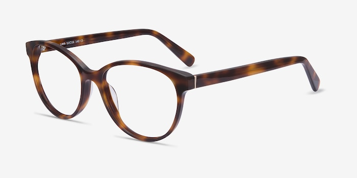 Laya Tortoise Acetate Eyeglass Frames from EyeBuyDirect, Angle View