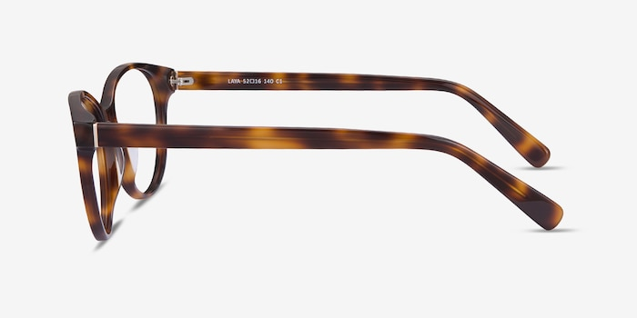 Laya Tortoise Acetate Eyeglass Frames from EyeBuyDirect, Side View