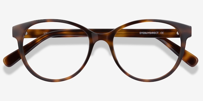 Laya Tortoise Acetate Eyeglass Frames from EyeBuyDirect, Closed View