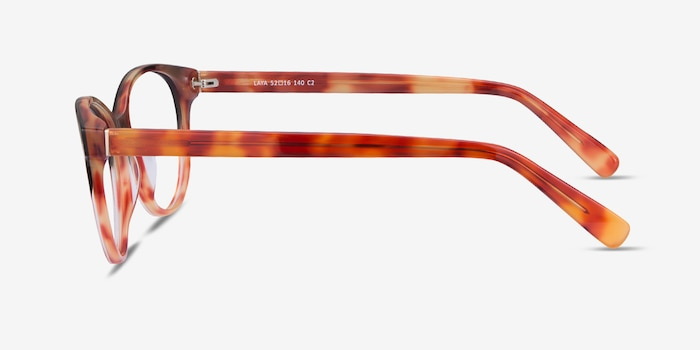 Laya Red Tortoise Acetate Eyeglass Frames from EyeBuyDirect, Side View