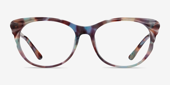 Mariposa Floral Acetate Eyeglass Frames from EyeBuyDirect, Front View