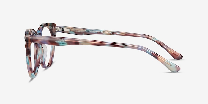 Mariposa Floral Acetate Eyeglass Frames from EyeBuyDirect, Side View