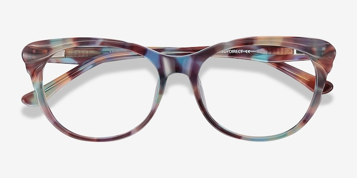 Mariposa Floral Acetate Eyeglass Frames from EyeBuyDirect, Closed View