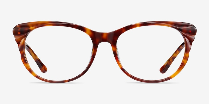 Mariposa Tortoise Acetate Eyeglass Frames from EyeBuyDirect, Front View