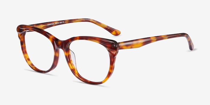 Mariposa Tortoise Acetate Eyeglass Frames from EyeBuyDirect, Angle View