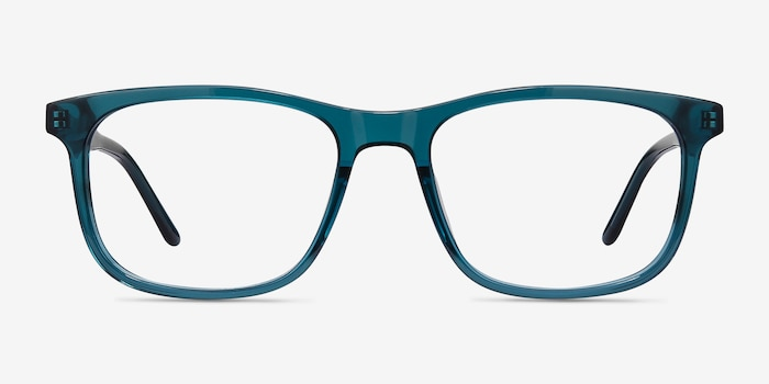 Ballast Green Acetate Eyeglass Frames from EyeBuyDirect, Front View