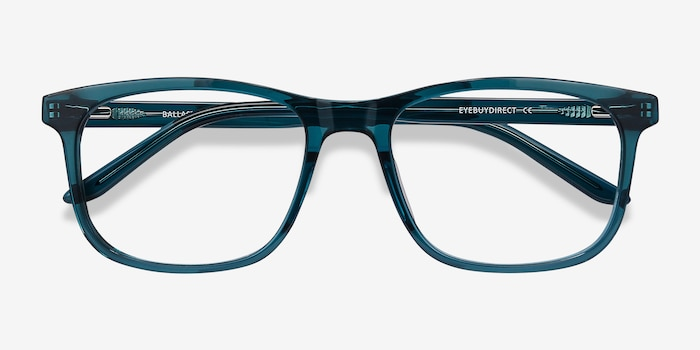 Ballast Green Acetate Eyeglass Frames from EyeBuyDirect, Closed View