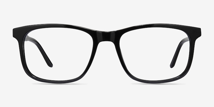 Ballast Black Acetate Eyeglass Frames from EyeBuyDirect, Front View