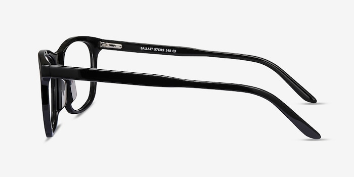 Ballast Black Acetate Eyeglass Frames from EyeBuyDirect, Side View